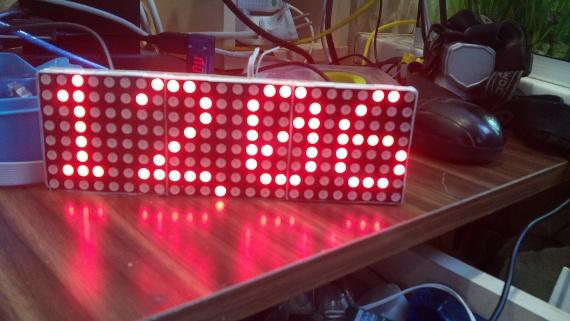 Часы на светодиодной матрице с микроконтроллером атмега 16