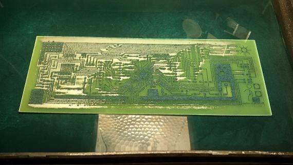 травление печатной платы под микроконтроллер