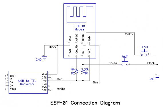 ESP-01 Connection  Diagram